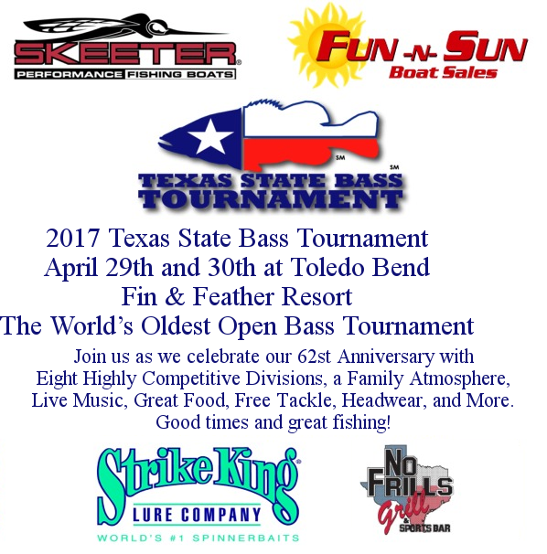 Texas state bass tournament world 39 s oldest bass fishing for Fishing tournaments in texas 2017